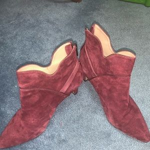 Cranberry ankle boots